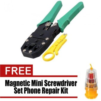 SZ-315 Network LAN Cable Crimper Plier Tools Kit with free WawaweiHS-6036A/JK-6036C 31 in 1 Precision Magnetic Mini Screwdriver SetPhone Repair Kit Torx Tools Sets
