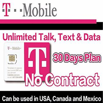 T-Mobile USA Prepaid Sim ( Voice and Data for USA, CANADA &MEXICO with 32GB 4G Data) Price Philippines