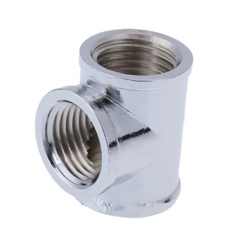 T-Shape 3 Way G1/4 Water Pipe Connector Part for PC Water CoolingSystem (Silver) - intl