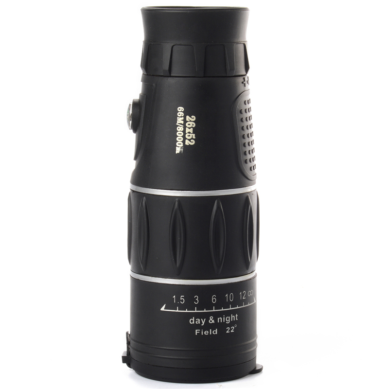 Tactical Super 26x52 mm Focus Ultra HD Travel Telescope Optics ZoomMonocular Telescopic - 3