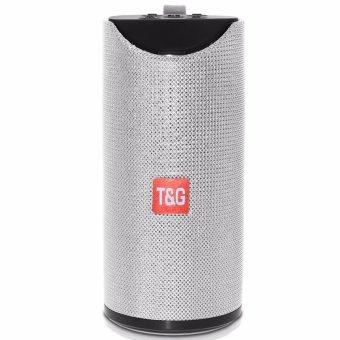 T&G TG113 Super Bass Splashproof Wireless Bluetooth Speaker (Silver) - 3
