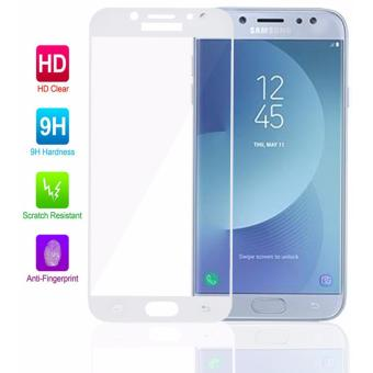 TCF Full Cover Tempered Glass Screen Protector for Samsung GalaxyJ7 Pro (White)
