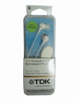 TDK TH-EC200WWH Clef-r Inner Ear Stereo Headphones (White) - picture 2