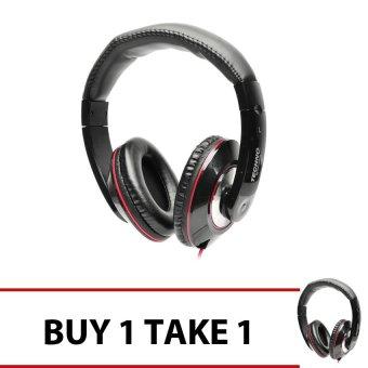 Techno Tamashi TH-T3 Over-the-Headphones (Black) Buy 1 Get 1