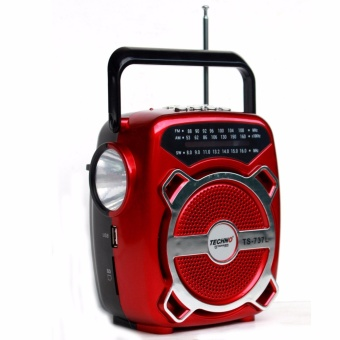 Techno Tamashi TS-737L 3 Band Radio with Light (Red)