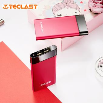 TECLAST T100UC-R 10000mAh Lighter Thiner Power Bank with Dual Input Dual USB Outputs (Red/Black)