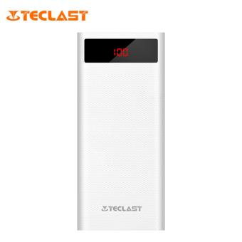 TECLAST T200CG 20000mAh Fast Charging Power Bank with Dual Input 2USB Outputs LED Display (White)