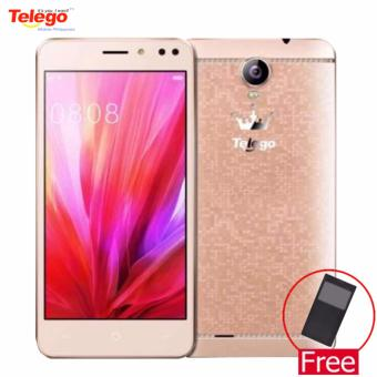 Telego Mobile Sugar Android 6.0 1GB/8GB 5.0 IPS Display 3G Dual SIM (Gold) w/ FREE Telego Ring Selfie Light (Blue)