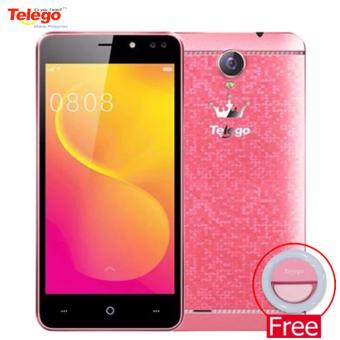 Telego Mobile Sugar Android 6.0 1GB/8GB 5.0 IPS Display 3G Dual SIM (Red) w/ FREE Telego Ring Selfie Light (Pink)