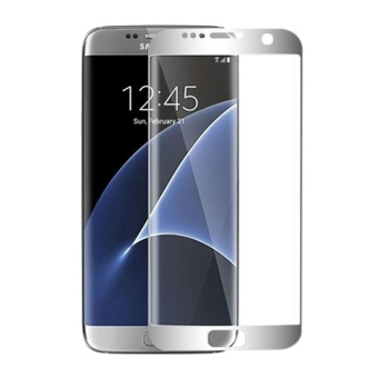Tempered Glass Full Coverage Screen Protector For Samsung Galaxy S6edge plus (Silver)