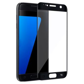 Tempered Glass Full Coverage Screen Protector For Samsung Galaxy S7(Black)