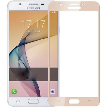 Tempered Glass Full Screen Protector HD For Samsung Galaxy J7 Prime(Gold)