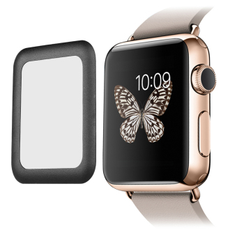 Tempered Glass Screen Protector Full Cover for Apple Watch 42mm (Black) - intl - 2