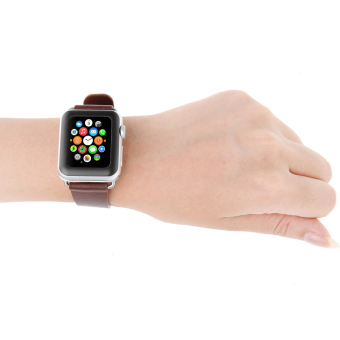 Tempered Glass Screen Protector Full Cover for Apple Watch 42mm (Black) - intl - 3