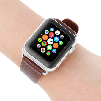 Tempered Glass Screen Protector Full Cover for Apple Watch 42mm (Black) - intl - 4
