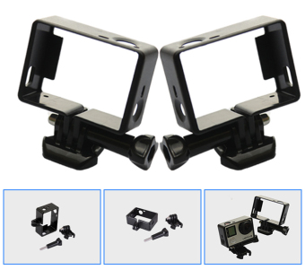 Teyeleec Frame Mount w/ Base for Go Pro Hero (Black) (Intl) - 4