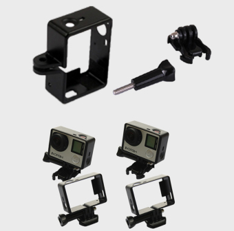 Teyeleec Frame Mount w/ Base for Go Pro Hero (Black) (Intl) - 5