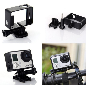 Teyeleec Frame Mount w/ Base for Go Pro Hero (Black) (Intl) - 3