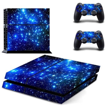 The beautiful starry sky night view Planet Decal PS4 Skin StickerFor Sony Playstation 4 Console film +2Pcs Controllers - intl