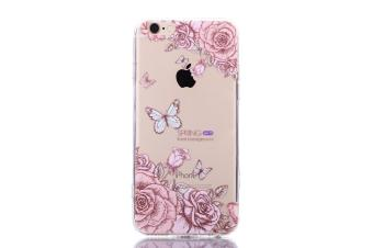 The New Apple 7 Mobile Phone IPhone 7 Mobile Phone Shell Painted Butterfly Acrylic Anti Fall Protective Sleeve - intl