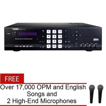 The Platinum BMB ONE Karaoke Player (Black) with FREE Over 17-000 OPM and English Songs and 2 High-End Wired Microphones