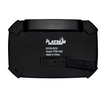 The Platinum PTBT-400 Audio Mini Boombox Bluetooth Outdoor Speaker (Black/Yellow) - 4