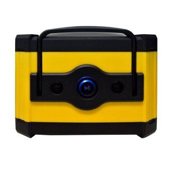 The Platinum PTBT-400 Audio Mini Boombox Bluetooth Outdoor Speaker (Black/Yellow) - 3