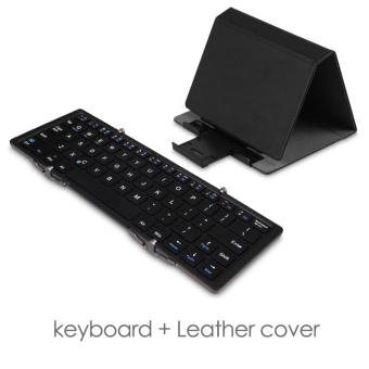 Three-fold multi-system universal Bluetooth keyboard with cover -intl Price Philippines