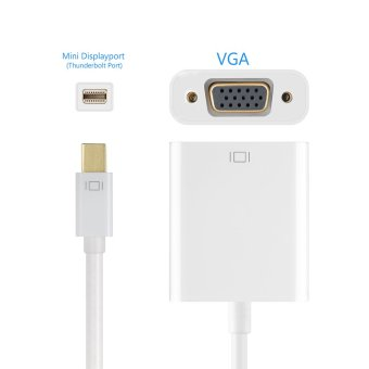 Thunderbolt Mini Displayport to VGA Video Cable Adapter 1080p - 5