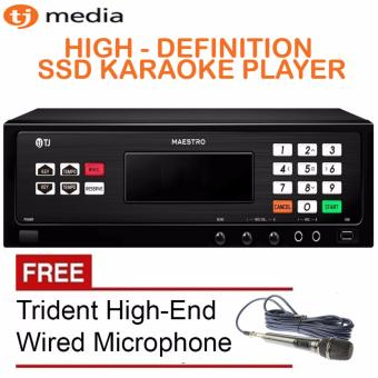 TJ Media Maestro TKR-335P 16GB SSD Karaoke Player Up to 18,000 Songs! Free Trident TR-97 Wired Microphone