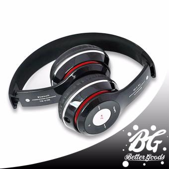 TM-012S Foldable Bluetooth Wireless/Wired 2in1 Headphone with Built-in Mic (Black)