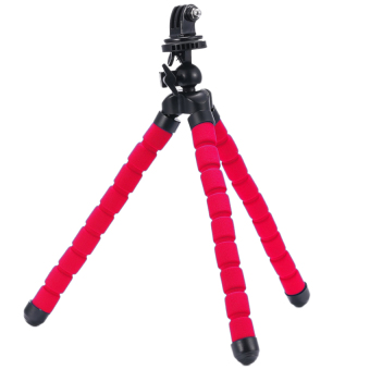 TMC Large Flexible Octopus Tripod for DSLR, Digicam with TripodMount for Gopro/Sjcam/ Xiaomi/ And Other Similar Action Camera(Red)