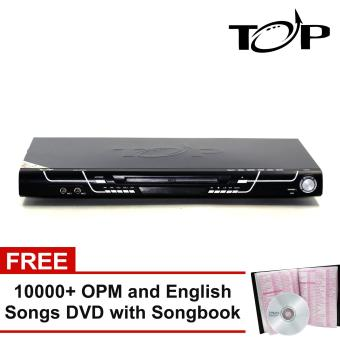 TOP MIDI 231 All-in-One Karaoke DVD Player with FREE Over 10000 OPM and English Songs DVD with Song Book (Black)
