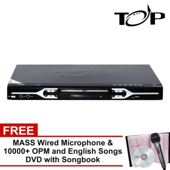 TOP MIDI 232 All-in-One Karaoke DVD Player with FREE Over 10000 OPM and English Songs DVD with Song Book and Mic (Black)