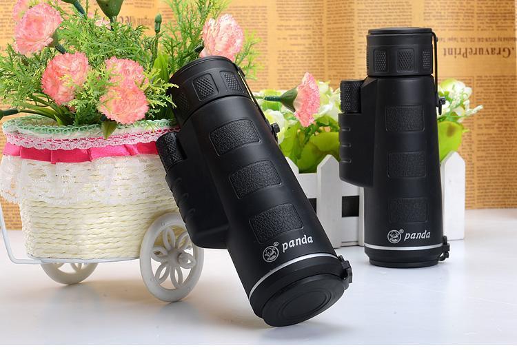 Top quality 35x50 zoom mini Monocular panda 40X Telescope hd night vision scope outdoor hunting military monoculars binoculars - intl - 4