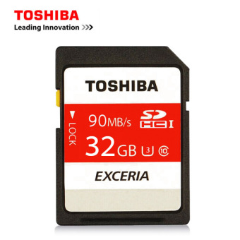 Toshiba Exceria 90MB/s 32GB SDHC UHS U3 SD Card Class 10 Flash Memory Card THN-N302