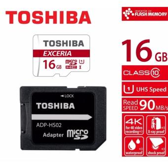 Toshiba Exceria M302 16GB Micro SDHC 90MB/sec Class 10 UHS-I (UHS Speed Class 1) Card with SD Adapter
