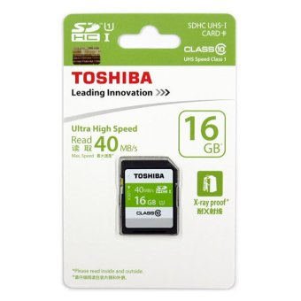 Toshiba SD-K016GR7AR040A 16GB Ultra High Speed SDHC (Black)