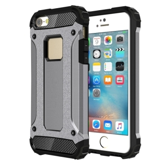 Tough Armor TPU + PC Combination Case for iPhone SE / 5SE(Grey) -intl