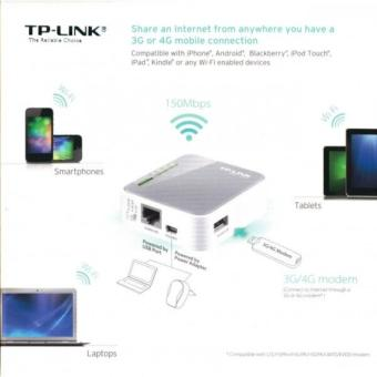 TP-Link N150 Wireless 3G/4G Portable Router with AccessPoint/WISP/Router Modes (TL-MR3020) - 2