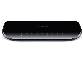 TP-Link TL-SG1008D 10/100/1000Mbps Unmanaged 8-Port Gigabit Desktop Switch (Black)