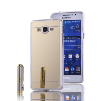 TPU Bumper Frame Mirror Effect PC Case Cover For Samsung GalaxyGrand Prime G530 (Golden) - intl