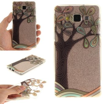 TPU Flexible Soft Case for Samsung Galaxy A5 2015 (Hand-PaintedTree) - intl