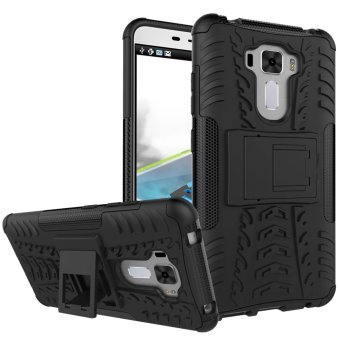 TPU + PC Armor Hybrid Case Cover for Asus Zenfone 3 Laser ZC551KL(Black) - intl