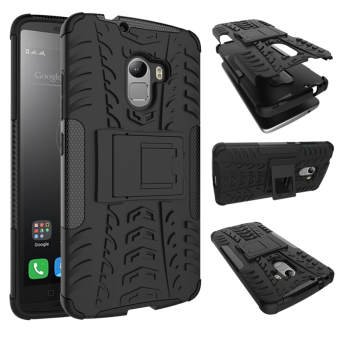 TPU + PC Armor Hybrid Case Cover for Lenovo K4 Note (Black)