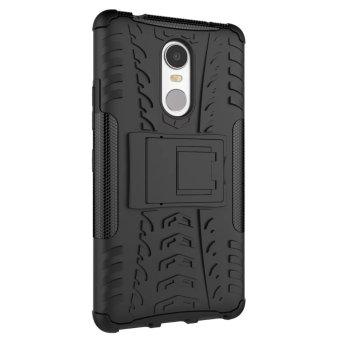 TPU + PC Armor Hybrid Case Cover for Lenovo K6 Note (Black)