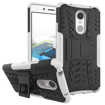 TPU + PC Armor Hybrid Case Cover for Lenovo K6 Note (White)