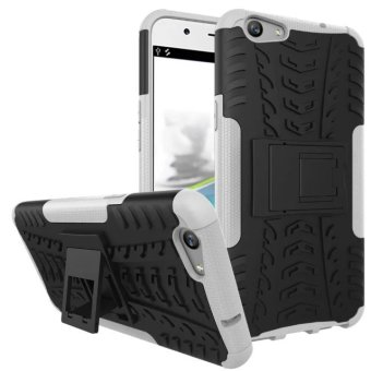 TPU + PC Armor Hybrid Case Cover for OPPO F1S (White)