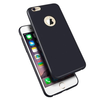 TPU Silicon Candy Style Soft Case Cover for Iphone 5s / Iphone SE(Black) with Free Phone Ring stand