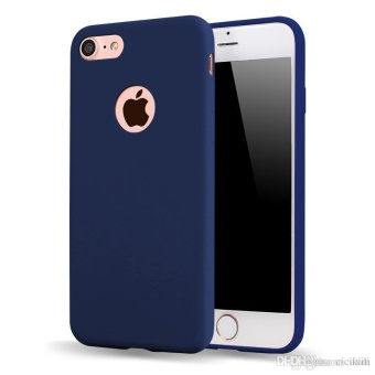 TPU Silicon Candy Style Soft Case Cover for Iphone 6 plus (NavyBlue)